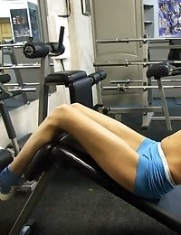 Sportsbabe working out in sexy tight clothes