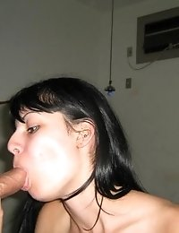 Sexy hottie opens her mouth for a huge rod