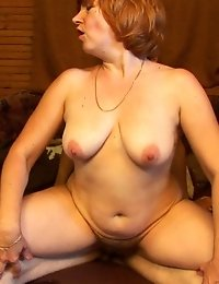 Drowsy housewife pleases a nasty younger dude