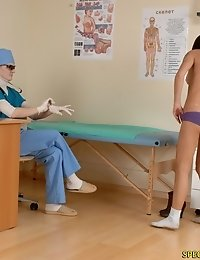 Doctor carries out a deep speculum insertion