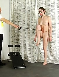 Controlled masturbation after gagged nude sports