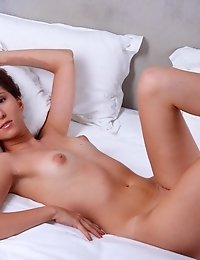 Petite Babe Strips Off Her Orange Bikini To Give Way For Her Hot Ass And Pussy That She Just Adores