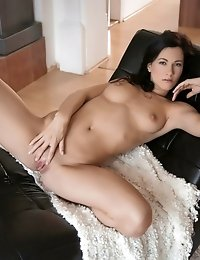 Brunette Hottie Lauren Enjoys A Slow Massage Of Her Horny Body Before Fondling Her Clit And Finger F
