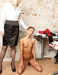 Secretary modesty disappeared together with her clothes