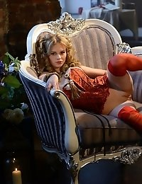 Not Only Is This Blonde Teen Flawless, But Her Strip Show During Which She Takes Off Her Red Corset