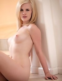 Blonde Sex Kitten Catie Parker Peels Off Her Bra And Thong To Give Her Full Tits A Rough Massage And