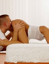 Buxom Blonde Dido Angel Dominates Her Man With A Warm Wet Blowjob And A Steamy Ride In Her Cum Hungr