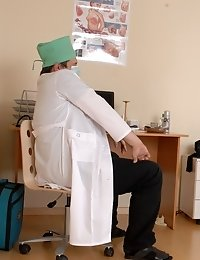 Visual medical inspection and chest examination