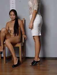 Nude dirty tests passed by an Asian candidate