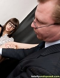 Rectal and vaginal fuck testing of a secretary