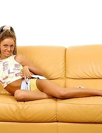 Hot Sex Angel Plays Alone On The Couch