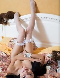 Posing For Good On The Biggest Bed In Her Life. This Great Looking Nasty Girl Enjoys The Freedom She