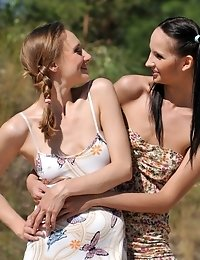 Two Cute Girlfriends Help Each Other To Undress And Show Off Their Hot Naked Teen Bodies.