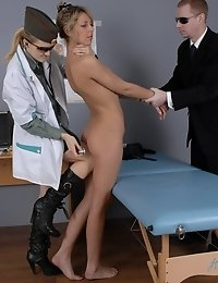 Reluctant plaything of two vicious army doctors