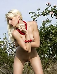 Check Out This New Softcore Image Set In Which A Lovely Blonde Teen Sensually Caresses Her Naked Bod