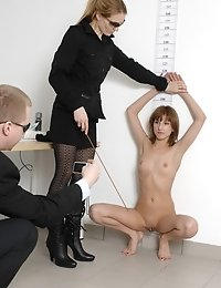 Fully nude plaything of crazy staff clerks