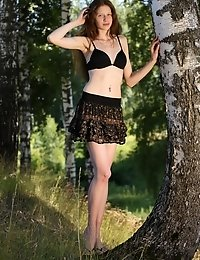 Brunette Teen Shows How Sexy She Looks In Short Skirts And That She Is Much More Comfortable Without