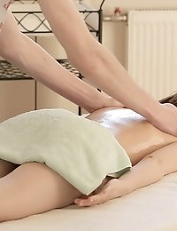 A Sensual Massage Turns Into A Naughty Fuck When Petite Julie Vee Stuffs Her Soft Puffy Twat With He