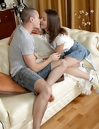 Cute Nona In Hot Defloration Action With Insatiable Stud.