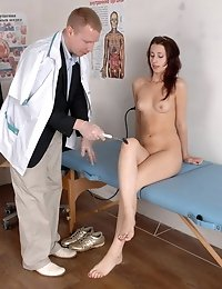 Intense orgasm at a naked medical examination