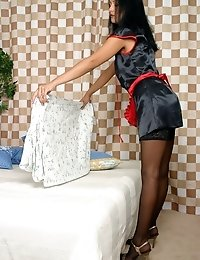 Lustful maid gets fucked by her employer