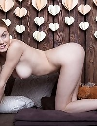 Gorgeous Brunette Teen Angel With Big Round Tits Teases, Poses And Gapes Her Shaved Pink Hole For Th