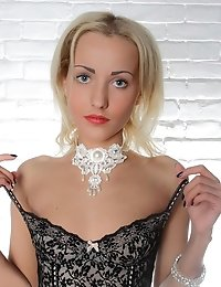This Gorgeous Blonde Teen Strips Her Classy Clothes To Show That Under It, Only Her Innocent Little