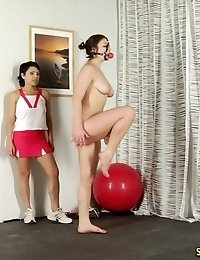 Her bdsm sports female trainer has no mercy