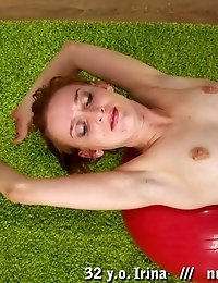 Erotic nude exercises for legs and back