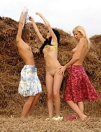 Beautiful Teen Girls Make Up Their Mind To Please You, Showing Art Of Posing At The Seaside.