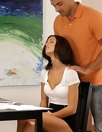 Big Tit Babe Whitney Westgate Gives Her Man A Cowgirl Stiffie Ride In Her Creamy Bald Pussy Followed