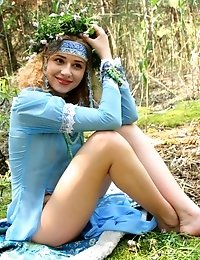 This Image Set Is About A Gorgeous Blonde Teen Who Takes Off Her Blue Dress To Do A Stirring Tease S