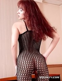 Babe in hot crotchless bodystocking