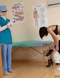 Physical exam including a shape inspection