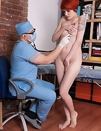 Maledom checkup of a tattooed foxy girl
