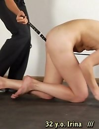 Collared working bitch of a fitness dominatrix