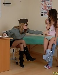 Nude workouts done at an army checkup