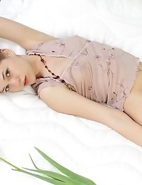 Natural Blonde, Fascinating Small Breasts, Secret Look From Blue Eyes. Amazing Champagne Babe Likes