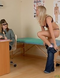Blondie passes thru a sporty military physical