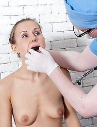 Gyno fetish maledom at the hairy vagina exam