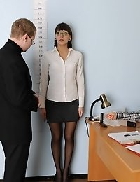 Office dressed and undressed games at an interview