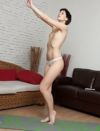 Her favorite postures done in the nude