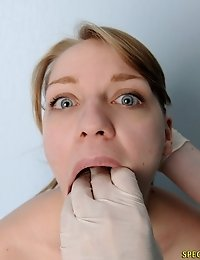 Confusing lungs exam and BJ-like throat check