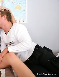 Horny teen girl lets her tutor seduce her while studying