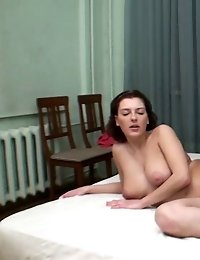 Big-boobed trainee fingered by a lesdom coach