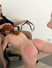 Lesdom shower after sport castigation and spanking