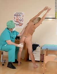 Blondie receives a head-to-toe med examination