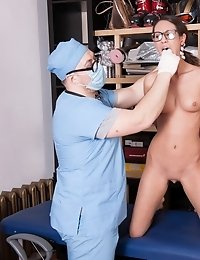 Oral and vaginal domination at the BDSM exam