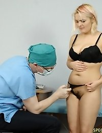 Awfully exciting big tits and pussy of his patient