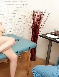 Big-titted gyno patient masturbates in an extreme way